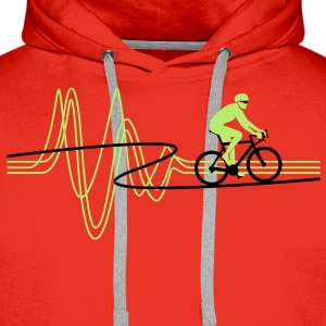 Road Tour Heartbeat T-Shirts - Men's Premium Hoodie