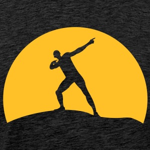 Usain Bolt before sunset  Hoodies & Sweatshirts - Men's Premium T-Shirt