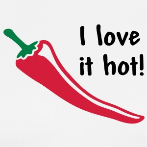 I love it hot! Chili Peppar. Hot Lover Förkläden - Premium-T-shirt herr