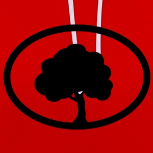 Tree  T-Shirts - Contrast Colour Hoodie
