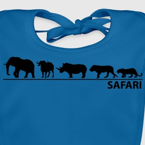 Safari - The big five - Baby Bio-Lätzchen
