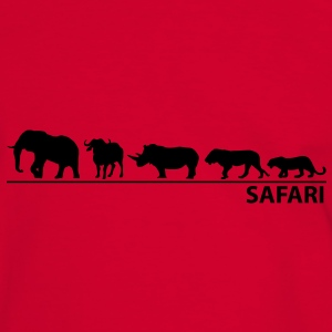 Safari - The big five - Männer Kontrast-T-Shirt
