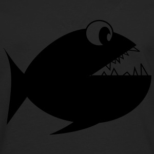 Fish Piranha sea water underwater T-Shirts - Men's Premium Longsleeve Shirt