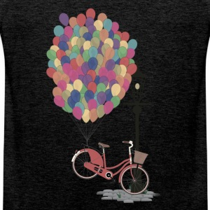 Sand beige Love to Ride my Bike with Balloons T-Shirts T-Shirts - Men's Premium Tank Top