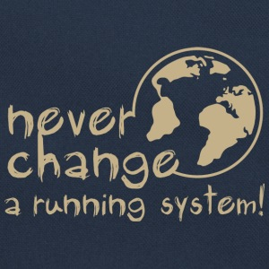 never change a running system, DD, earth, erde / Sweaters - Retro-tas