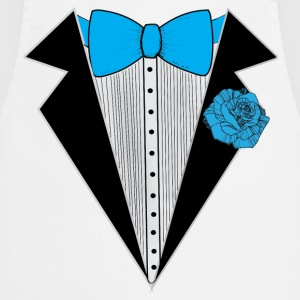 Tuxedo style with Blue Bowtie & Rose T-Shirts - Cooking Apron