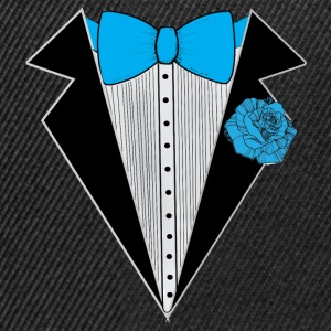 Tuxedo style with Blue Bowtie & Rose T-Shirts - Snapback Cap