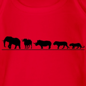 The big five der Safari T-Shirts - Baby Bio-Kurzarm-Body