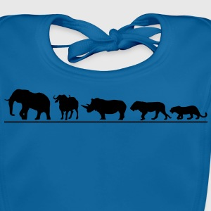 The big five der Safari T-Shirts - Baby Bio-Lätzchen
