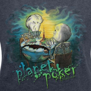 planet poker... and yes it is a virus! Tröjor - T-shirt med upprullade ärmar dam