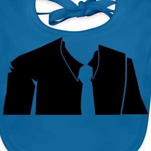 male in a suit no head Shirts - Baby Organic Bib