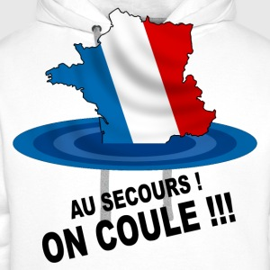 France, on coule ! Tee shirts - Sweat-shirt à capuche Premium pour hommes