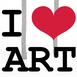 I Love ART ! Shirts - Men's Premium Hoodie