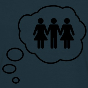 Threesome Thought Bubble - Men's T-Shirt