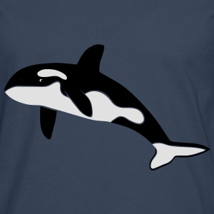 orca orka wal killer whale delfin delphin dolphin Pullover & Hoodies - Männer Premium Langarmshirt