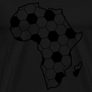 Africa as a continent of black football  Hoodies & Sweatshirts - Men's Premium T-Shirt