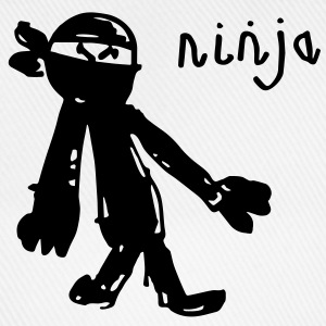 an awesome genuine kids drawing of a NINJA! Hoodies - Baseball Cap