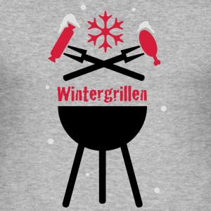 Wintergrillen - Männer Slim Fit T-Shirt