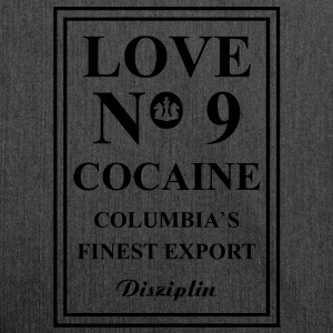 Love No 9 Cocaine Columbia s Finest Export Diszipl - Schultertasche aus Recycling-Material