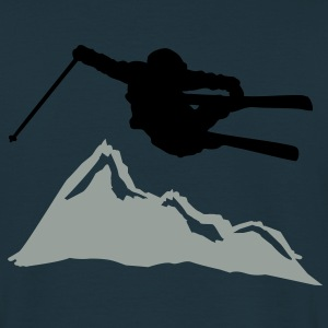 ski jump i mountain Sweatshirts - Herre-T-shirt