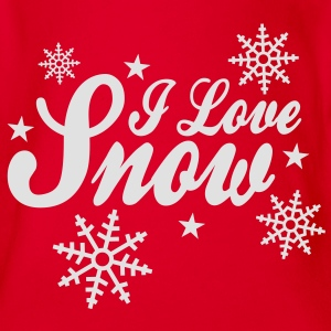 I love snow with snowflakes ii T-Shirts - Baby Bio-Kurzarm-Body