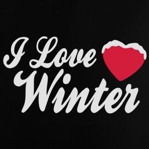 I love winter with heart 2c Taschen - Baby T-Shirt