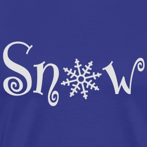 snow with snowflake Tröjor - Premium-T-shirt herr