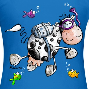 Diving Cow Cartoon Shirt Hoodies & Sweatshirts - Women's T-Shirt