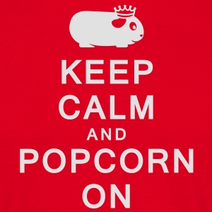 'Keep Calm & Popcorn On' Cooking Apron - Men's T-Shirt