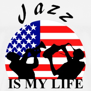 jazz is my life Bags  - Men's Premium T-Shirt