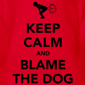 Keep Calm and Blame the Dog - Organic Short-sleeved Baby Bodysuit