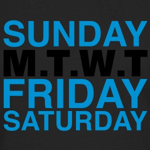 my week | weekend T-Shirts - Men's Premium Longsleeve Shirt