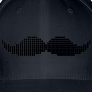 Royal blue Pixel Moustache Shirts - Flexfit Baseball Cap