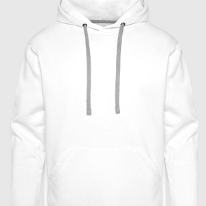 White Pixel Moustache Shirts - Men's Premium Hoodie
