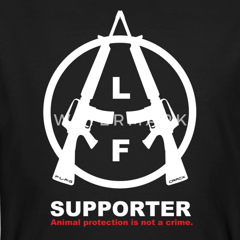 ALF Supporter | Animal Liberation Front - T-shirt ecologica da uomo