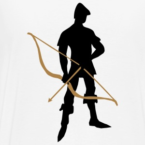 Archer with recurve bow by patjila Long sleeve shirts - Men's Premium T-Shirt