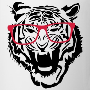 Tiger head nerd glasses Internet 2c T-Shirts - Mug