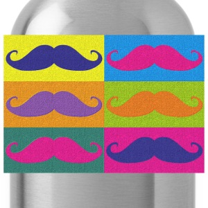 moustaches pop art - Bidon