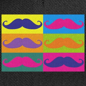 moustaches pop art - Snapback Cap