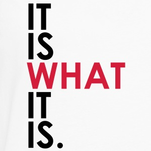 It Is What It Is Hoodies - Men's Premium Longsleeve Shirt