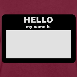 Name tag - HELLO my name is  Aprons - Women's Oversize T-Shirt