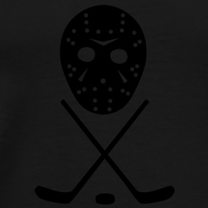 Ice Hockey Sticks, Puck and Mask Underwear - Men's Premium T-Shirt