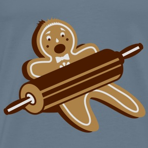 A rolling pin and a gingerbread man Shirts - Men's Premium T-Shirt