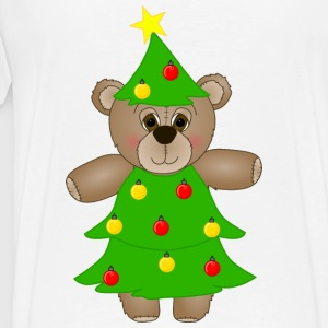 Teddy Bear Dressed as a Christmas Tree Hoodie - Men's Premium T-Shirt