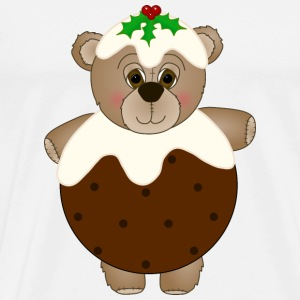 Teddy Bear Dressed as a Christmas Pudding Hat - Men's Premium T-Shirt