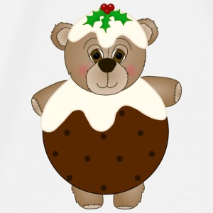 Teddy Bear Dressed as a Christmas Pudding Baby Bib - Men's Premium T-Shirt