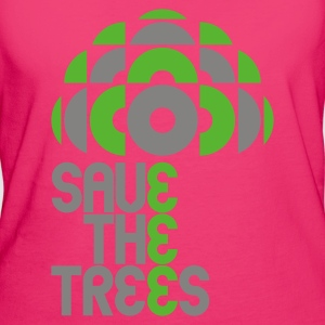 Jeans blue save trees Bags  - Women's Organic T-shirt
