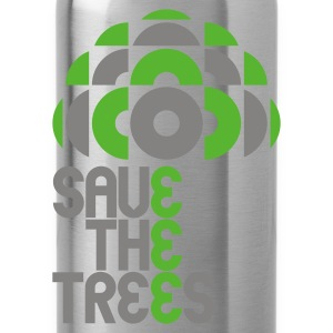 Leaf green save trees Bags  - Water Bottle