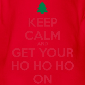 Keep Calm And Ho Ho Shirts - Organic Short-sleeved Baby Bodysuit