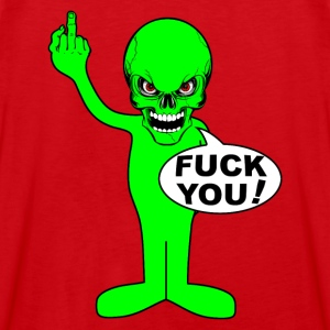 fuck you alien Hoodies & Sweatshirts - Men's Premium Tank Top
